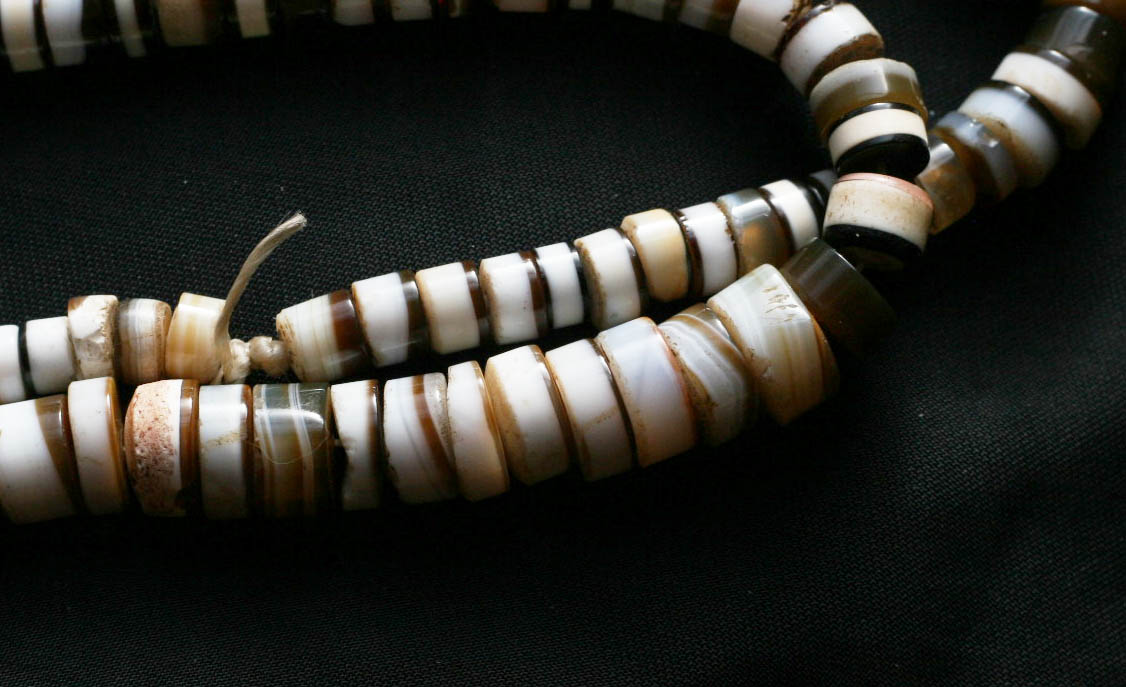 Alte Achatperlen Idar-Oberstein Geld CE60 Old Agate Stone Trade Beads Currency