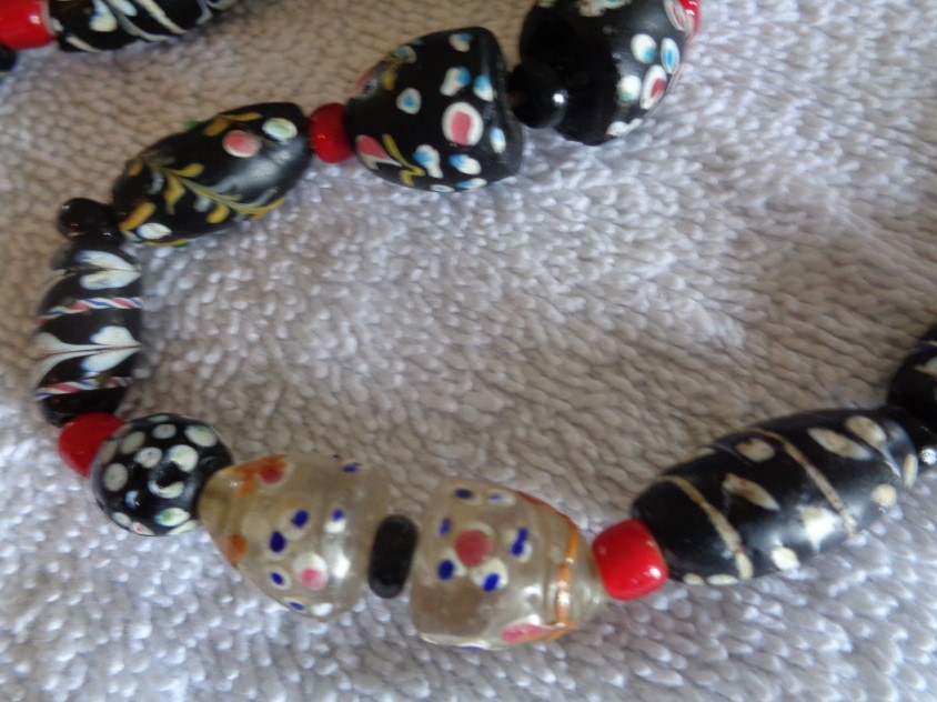 Pink Ghost Venetian Trade Bead Africa Loose 110942
